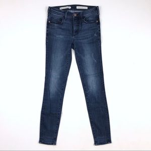 [Anthro • Pilcro] High Rise Letterpress Jeans 25